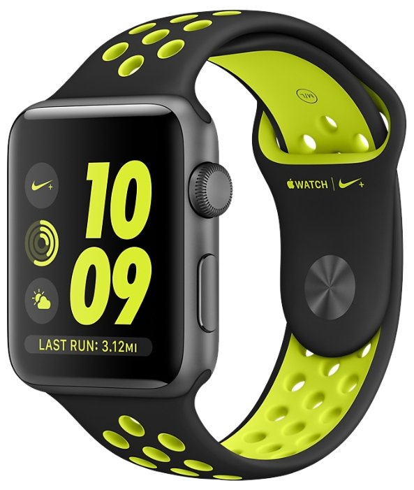 Apple Watch 2 series 38mm Nike Space Gray (Green)