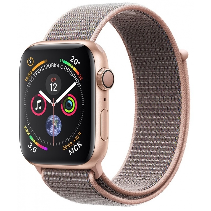 Apple Watch 4 series 44mm Gold Aluminum Case with Sport Loop