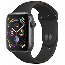 Apple Watch 4 series 44mm  Black Aluminum Case with Sport Band