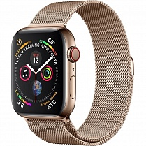 Apple Watch 4 series 44mm Gold Steel Case with Milanese Loop