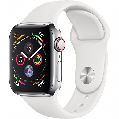 Apple Watch 4 series 40mm Silver Steel Case with Sport Band