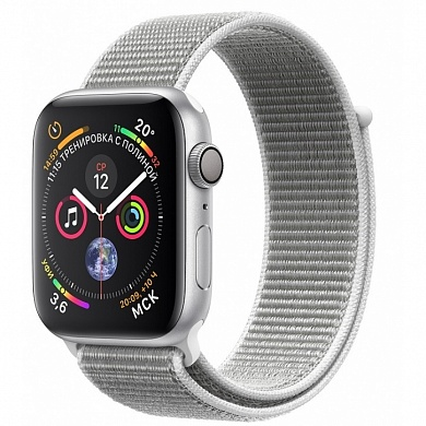 Apple Watch 4 series 44mm Silver Aluminum Case with Sport Loop