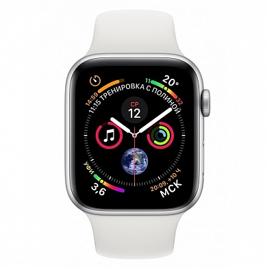 Apple Watch 4 series 40mm Silver Aluminum Case with Sport Band